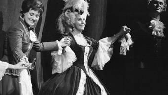 Sopranistin Lisa Della Casa feiert 1972 im Zürcher Opernhaus ihr 30-jähriges Bühnenjubiläum (Archiv)