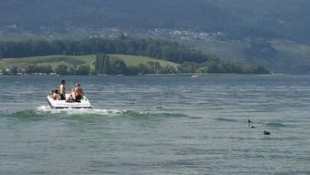 Ein Boot auf dem Bielersee (Symbolbild)