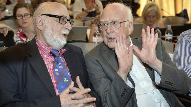 Der Belgier Englert (links) und der Brite Higgs (Archiv)