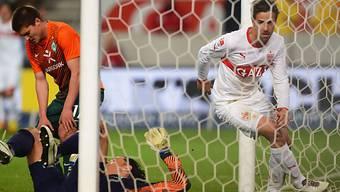 Martin Harnik bezwang die Bremer Hintermannschaft gleich doppelt.