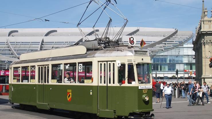 Das Tram SVB 107c des Tramverein Bern.