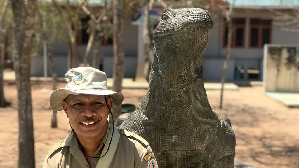 ARCHIV - Der für seine mächtigen Warane berühmte Komodo-Nationalpark in Indonesien öffnet Mitte August 2020 wieder für ausländische Gäste - jedoch nur unter strikten Auflagen. Foto: Christoph Sator/dpa