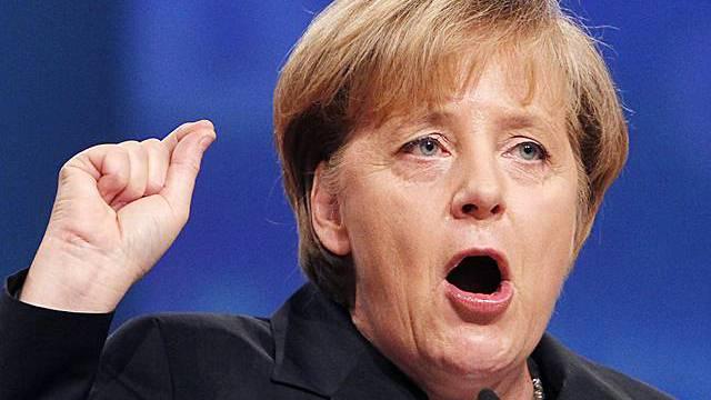 Bundeskanzlerin Angela Merkel am CDU-Parteitag