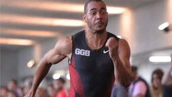 Nicht ganz zufrieden: Sprinter Malcolm Fongué (Mitte). Wagner
