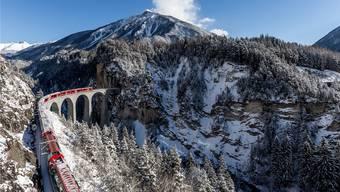 Rhätische Bahn auf den Unesco-Welterbestrecken