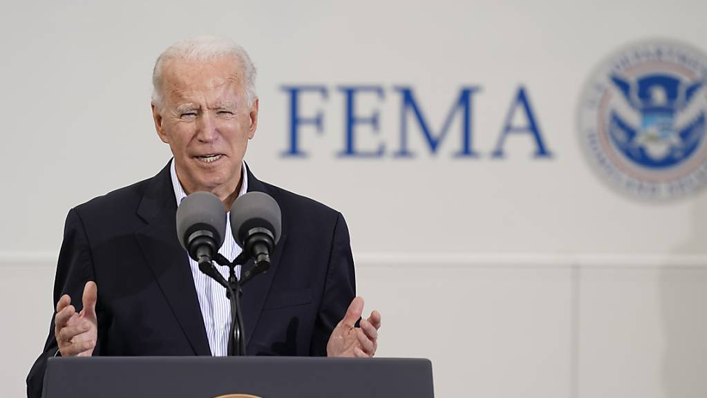 Joe Biden, Präsident der USA, spricht bei einer Veranstaltung zur Covid-19-Massenimpfung. Foto: Patrick Semansky/AP/dpa