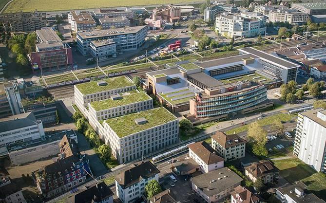 """Das Areal der ehemaligen """"NZZ""""-Druckerei in Schlieren ist derzeit stark im Wandel."""