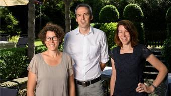 Gastgeber in der «Linde» in Fislisbach sind am Sonntag die Geschwister Isabelle Uttiger-Schibli, Felix Schibli und Sarah Pente-Schibli (von links). Alex Spichale