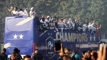 Empfang von Frankreichs Weltmeistern