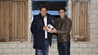 Freuen sich auf ihre neue Aufgabe: Balz Stückelberger und Ex-FCB-Spieler Beni Huggel.