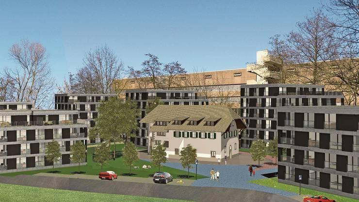 Für die «Parkresidenz Mühle» werden 10 Mehrfamilienhäuser um die Mühle gruppiert.