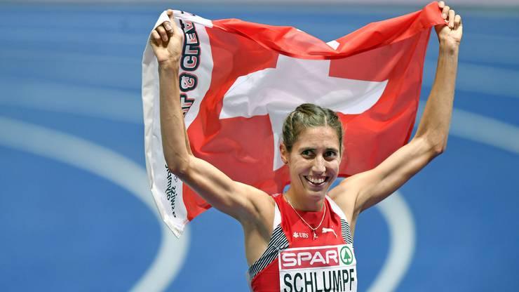 Über 3000 m Steeple wurde Fabienne Schlumpf Zweite.