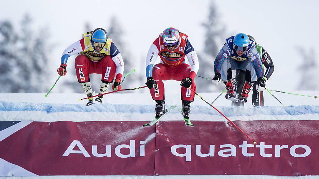 Alex Fiva (Mitte) und Marc Bischofberger (links) gehören in der Sierra Nevada zu den Schweizer Medaillenhoffnungen
