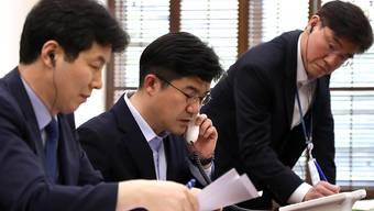 Testlauf für die Hotline zwischen Süd- und Nordkoreas Präsidenten