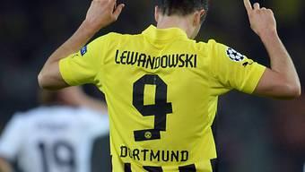 War der Mann des Spiels: Dortmunds Torgarant Robert Lewandowski.