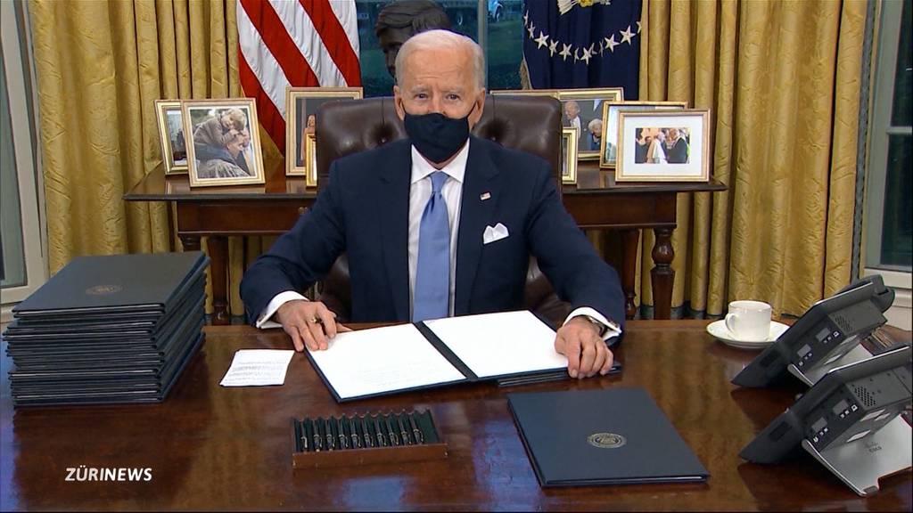 Joe Biden offiziell als US-Präsident vereidigt