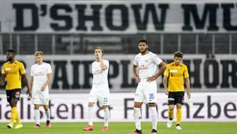 Enttäuschter FC Zürich nach der 5:0 Niederlage.
