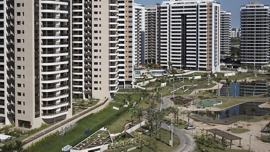Hier wird in Rio de Janeiro der Grossteil der Olympia-Athleten untergebracht sein: im Olympischen Dorf im Stadtteil Barra