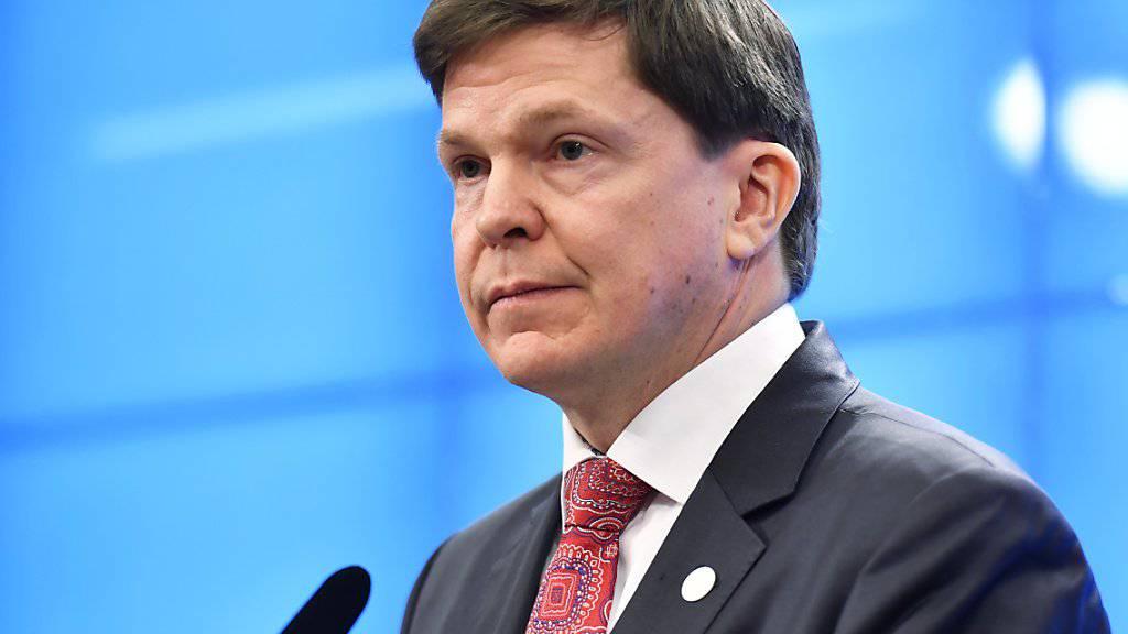 Nach Meinung von Parlamentspräsident Andreas Norlén hat eine weitere Abstimmung im Parlament über einen Regierungschef vor Weihnachten keinen Sinn. (Archivbild)