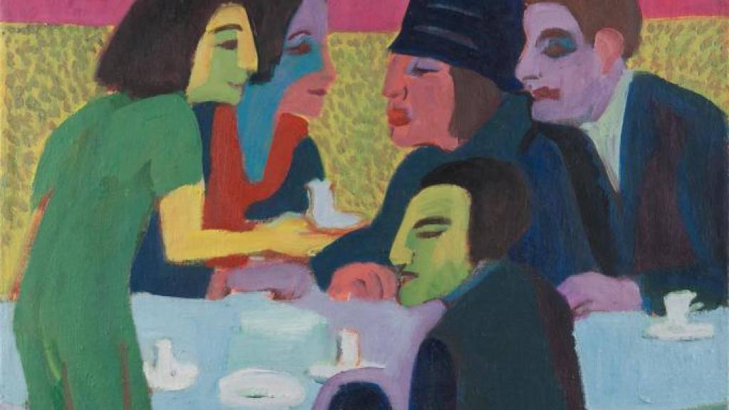 Dieses Bild von Ernst Ludwig Kirchner (1880-1938) wurde erst jetzt entdeckt, weil es unter einem anderen Gemälde auf den selben Rahmen gespannt war. (z.V.g.)