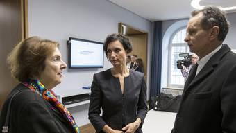 Die aktuellen Aargauer Ständeräte Philipp Müller und Pascale Bruderer sollen bei der nächsten Wahl auch von Auslandschweizern Stimmen erhalten können. Alt Ständerätin Christine Egerszegi (links) musste noch ohne diesen Wählerpool auskommen.