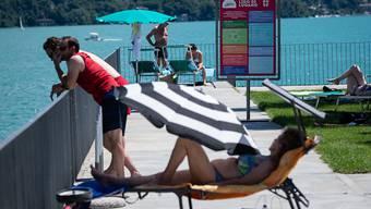 Genügend Platz: Im Lido Lugano werden nur Gäste mit Platzreservationen zugelassen.