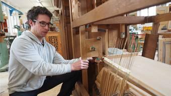 Peter Meier renoviert derzeit mit seinem Team eine Orgel aus Belfort. Fabrice Müller