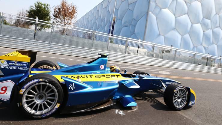 Der Schweizer Sébastien Buemi am Formel-E-Rennen in Peking vor einer Woche.