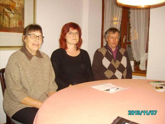 Die neuen Vorstands-Mitglieder (von links) Madleine Abdulkadir, Patricia Haller und Reinhard Suter