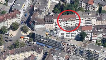 Auf dieses ehemalige Restaurant an der Tellstrasse in Basel wurde ein Brandanschlag verübt.