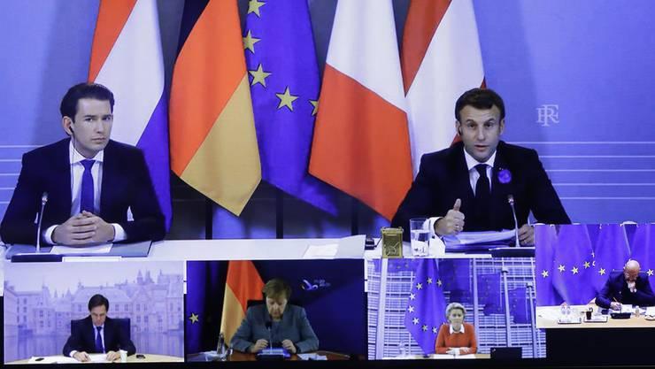 Drücken beim Anti-Terrorkampf aufs Temp: Der österreichische Bundeskanzler Sebastian Kurz (l.) und Frankreichs Präsident Emmanuel Macron.