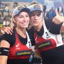 Nina Betschart (links) und Tanja Hüberli (rechts) zählen zu den grossen Schweizer Olympia-Hoffnungen im Beachvolleyball