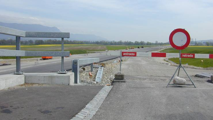 Baustelle Autobahn A5: Der Anschluss Grenchen mit der Auffahrt in Richtung Zürich.