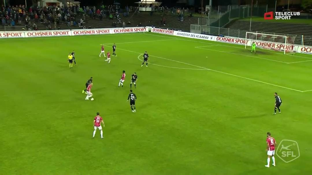 Challenge League: FC Aarau - FC Stade Lausanne-Ouchy, 48. Minute
