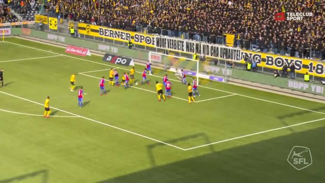 Super League, 2018/19, 33. Runde, YB - FC Basel, 62. Minute: Tor von Jean-Pierre Nsame.