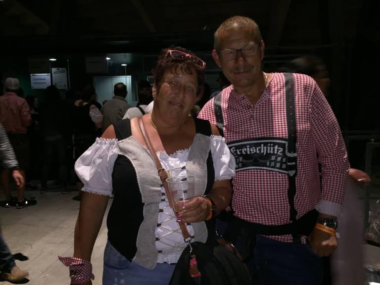 Vroni und Urs aus Horgen würden nicht mehr nach St.Gallen kommen. (Bild: Lara Abderhalden)