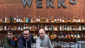 Marc Stocker, Tim Kröpfli und Philipp Kiefer (v.l.n.r.) sind drei des fünfköpfigen Leitungsteams des «Werk 8».