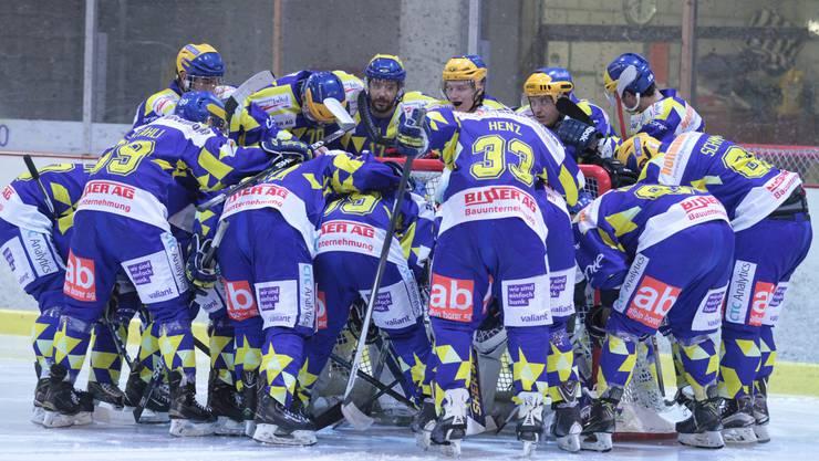 Hoffen auf eine verschworene Einheit: Der EHC Laufen will den Abstieg in die 3. Liga verhindern.