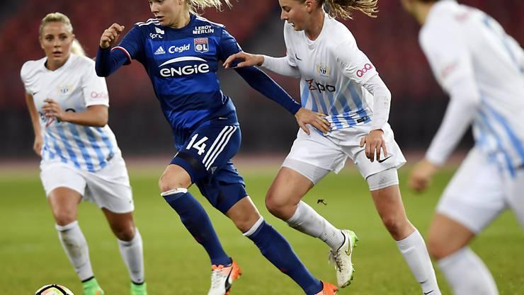 Den Spielerinnen des FC Zürich oft einen Schritt voraus: Champions-League-Sieger Lyon, hier mit Ada Hegerberg