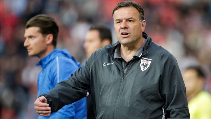 Patrick Rahmen bleibt Trainer des FC Aarau.