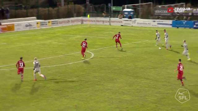 Challenge League: 20. Runde, FC Rapperswil-Jona - FC Aarau, 86. Minute, Markus Neumayrs Tor zum 1:2