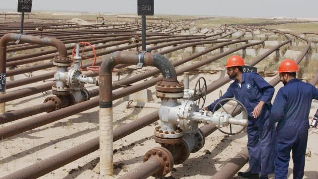 Das Maqwa Ölfeld, 50 Kilometer südlich von Kuwait-Stadt