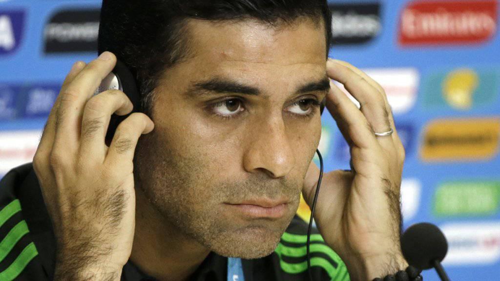 Vermögen eingefroren und Geschäftsverbot mit US-Bürgern: Der mexikanische Fussballnationalspieler Rafael Márquez muss harte Sanktionen durch die USA hinnehmen. (Archivbild)