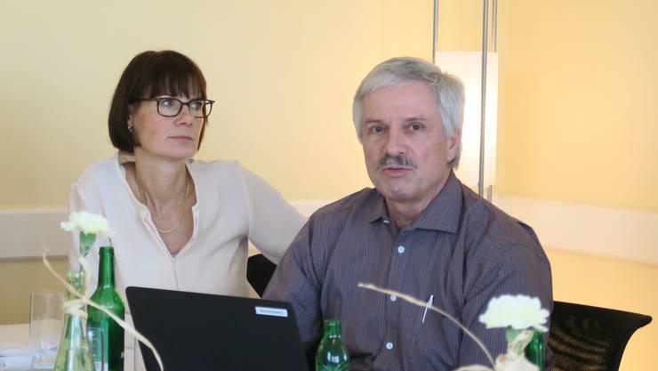 Präsidentin Susanna Schlittler und Bernhard Scholl, Referent.