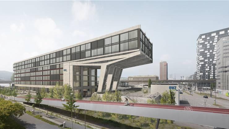 So soll das das neugestaltete EWZ-Areal Herdern in Zürich-West 2025 aussehen.