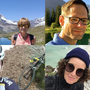 Die Urlaubsfotos der Aargauer Politikerinnen und Politiker. (Im Uhrzeigersinn: Ruth Humbel, Silvan Hilfiker, Lelia Hunziker, Markus Dietschi)
