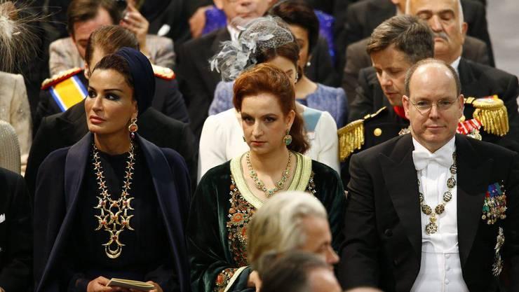 Lady Sheikha Mozah bint Nasser al-Missned, Prinzessin Lalla Salma von Morocco und Prinz Albert of Monaco