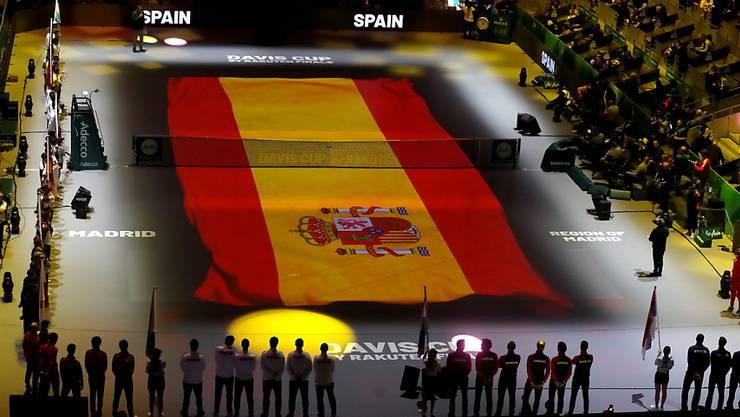 Eindrückliches Ambiente: Die Caja Magica in Madrid ist Austragungsort des ersten Davis-Cup-Finalturniers