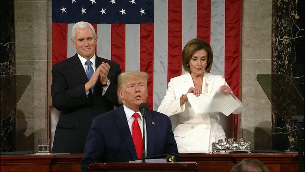 Nancy Pelosis deutliche Reaktion auf Donald Trumps Rede