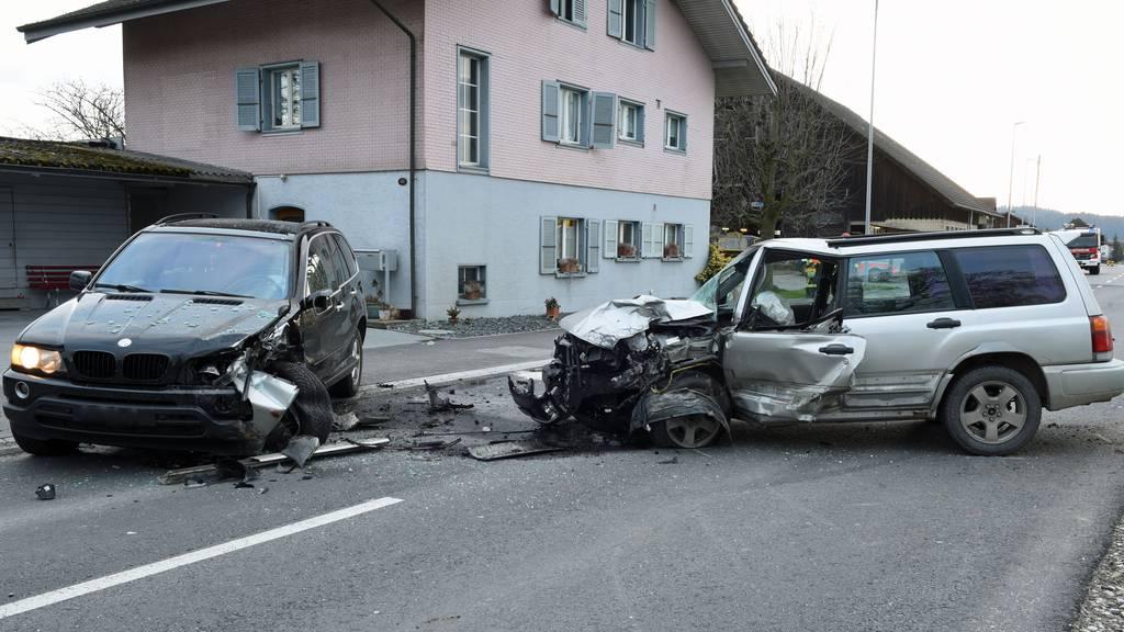 Glück im Unglück – keine Verletzten nach Frontalkollision